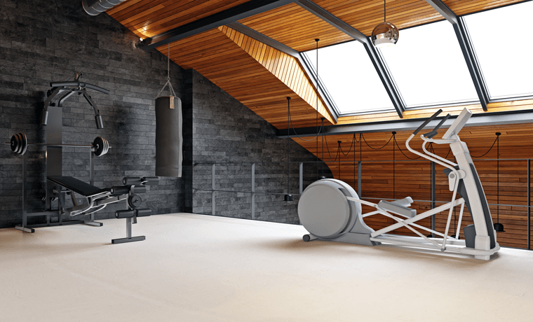 Dachboden Fitnessbereich