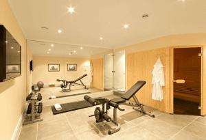 Saune- und Fitnessbereich