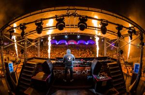 Blick vom DJ Pult bei Open Beatz