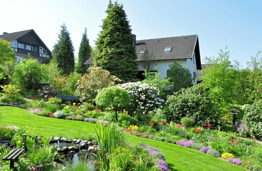 Großer grüner Garten
